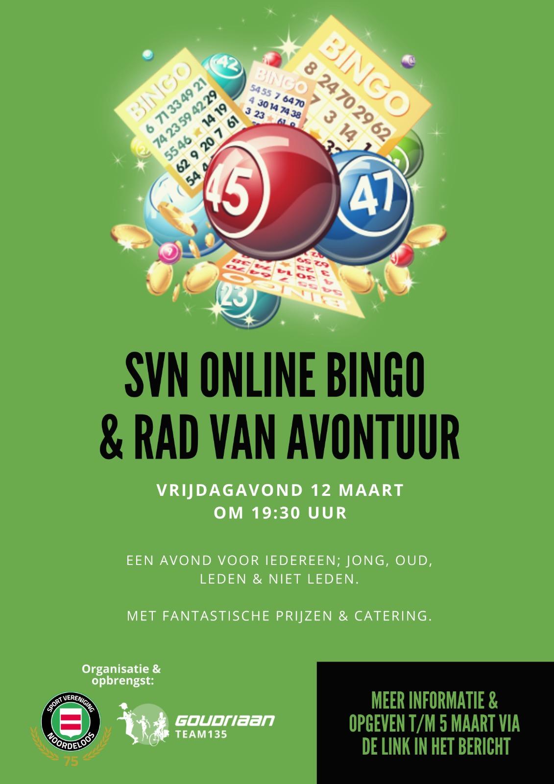 Vrijdagavond 12 maart gaat SVN Online!